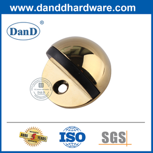 Polished Brass Stainless Steel Half Moon Gold Door Stopper-DDSS001