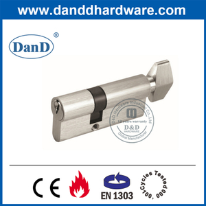 CE EN1303 Brass Mortice Door Lock Single Core Cylinder with Turn-DDLC002