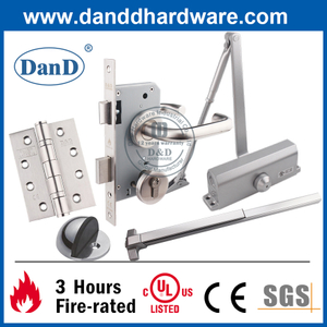 CE UL Stainless Steel Security Fire Rated Construction Door Hardware-DDDH001