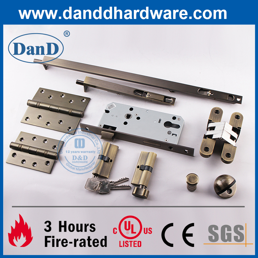 European Security Solid Stainless Steel Mortise X-Ray Lock-DDML027