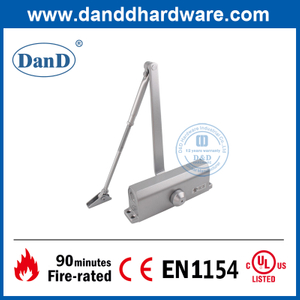 CE EN1154 Aluminium Adjusting Spring Loaded Fire Door Closer-DDDC015