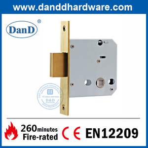 Solid Stainless Steel 304 Deadbolt Lock Body for Toilet Door-DDML029-B