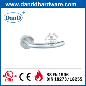 CE Class 4 Stainless Steel 304 Fireproof Door Handle with Round Rose-DDTH011