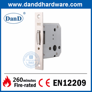 Euro Stainless Steel 304 Roller Bolt Mortise Lock for Internal Door-DDML030