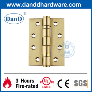 Stainless Steel 304 Golden Full Mortise Fire Door Hinge-DDSS001-4X3X3