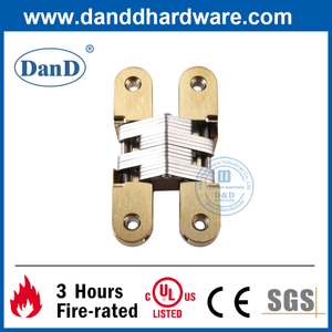 Satin Brass Zinc Alloy Concealed Door Hinge for Apartment Building-DDCH007